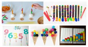 Kućni predmeti za vježbanje brojanja, zbrajanja i oduzimanja, množenja i dijeljenja